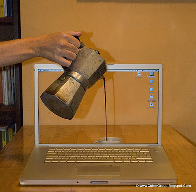 Caffe a Computer Transparent screen