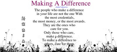 Making a Difference (English Poetry Card)