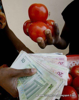 However, inflation kept going up and in September for this amount of cash you could only buy 4 tomatoes.