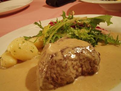 Ristorante da Valentino, tenderloin gorgonzola sauce