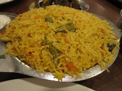 Anjappar Authentic Chenttinaad Restaurant, kaadai briyani