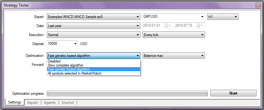 MetaTrader 5 Strategy Tester - Metatester 5 Overview