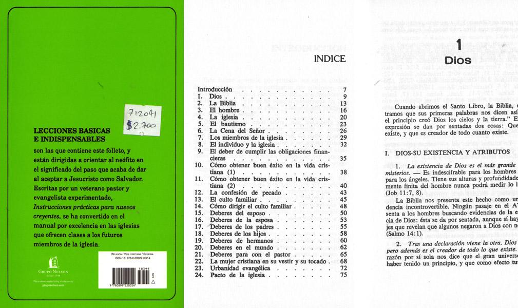 Instrucciones Prcticas Para Nuevos Creyentes Rodolfo Cruz Aceituno