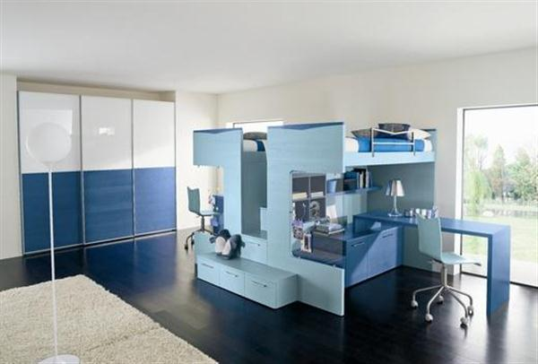 Modern And Futuristic Kids Bedroom Design Ideas Light Blue Modern