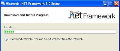 Microsoft .net Framework Installing