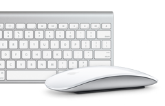 Apple iMac wireless keyboard and mouse