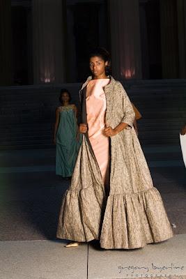 shantung evening gown