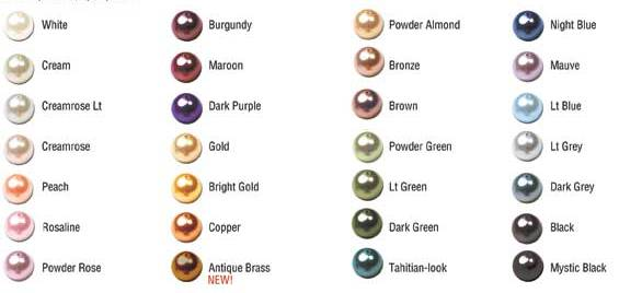 The Color Chart Are Also Obtained From Internet Thus Of Pearls Vary To