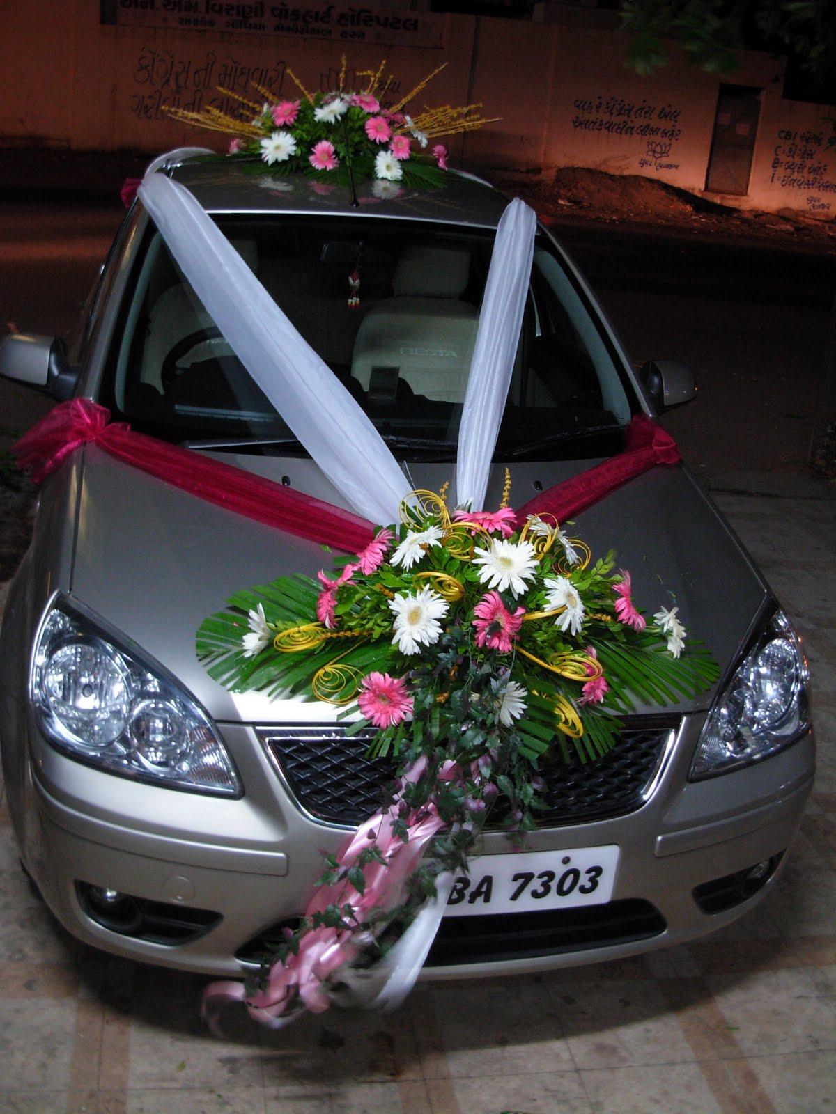 Flowers And Decoration: Wedding Car Decoration