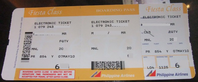The Ticket And The Boarding Pass Philippines Air Travel 101