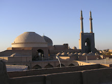 Yazd, sunset city centre, 2007