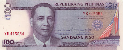 Philippine Money Peso Coins And Banknotes 100 Peso Bill
