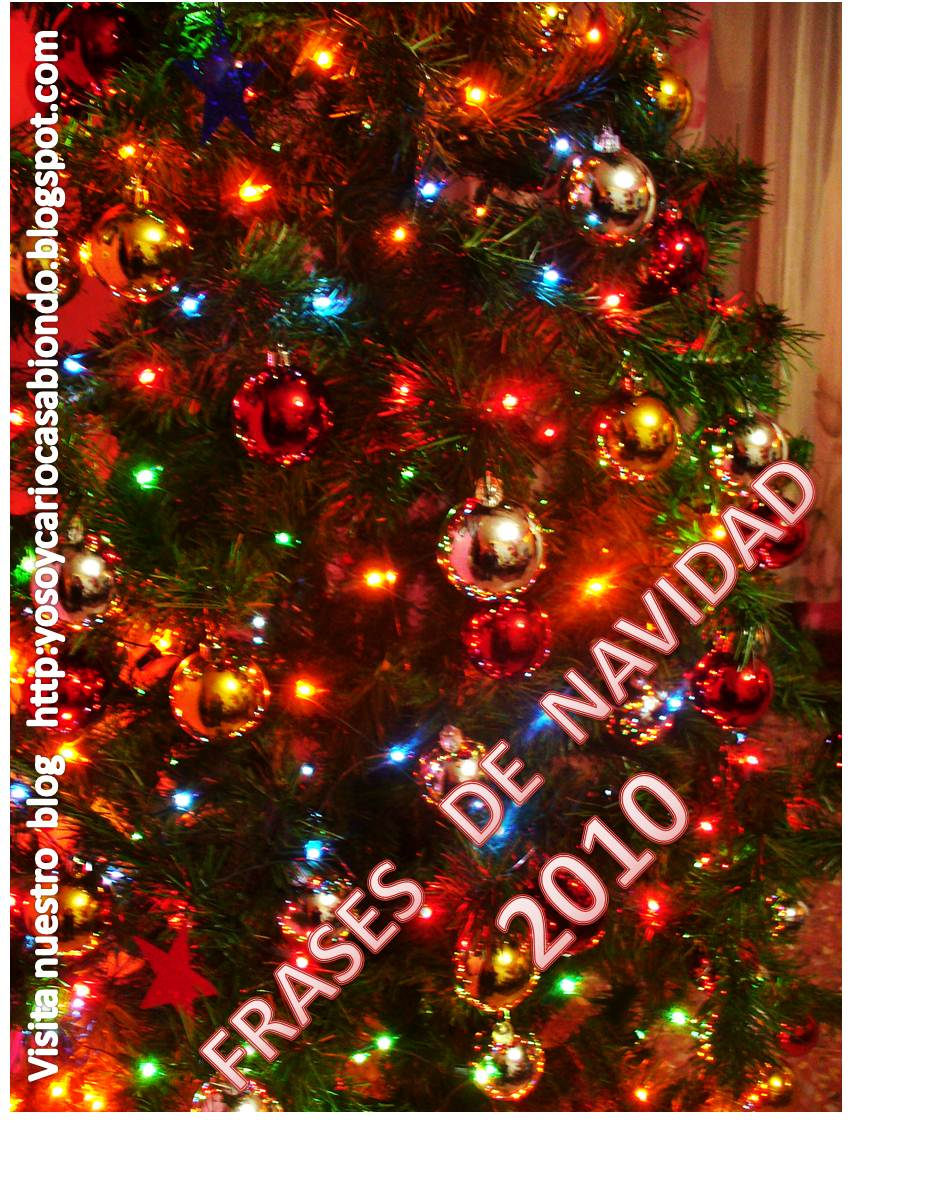 Hacer Postales Navidenas Fotos.Cariocasabiondo Frases De Navidad Para El 2010 Para Crear