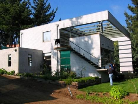 Arquitectura de casas casa canadiense moderna en chile for Casas prefabricadas modernas
