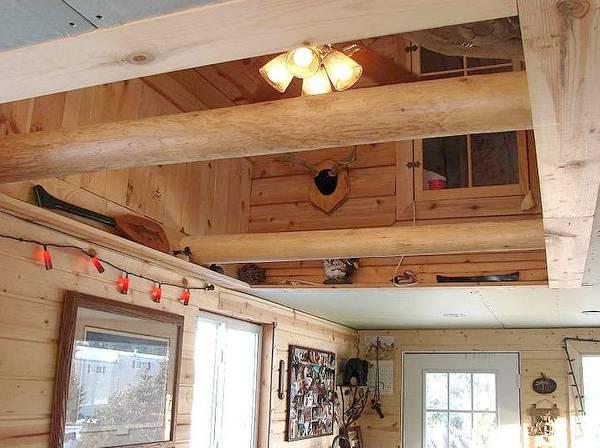 Arquitectura de casas casa rural peque a de madera tipo - Casa pequena de madera ...