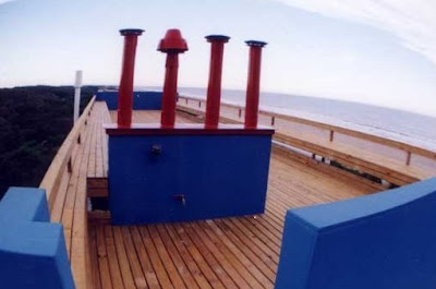 Terraza de la casa de playa
