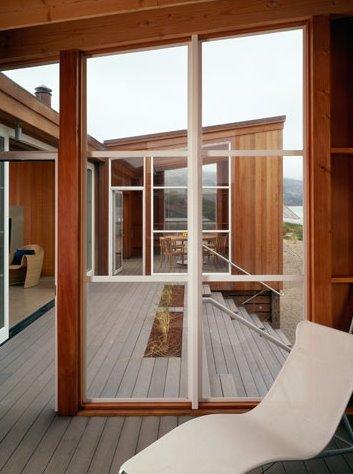 Interior de la casa de playa californiana
