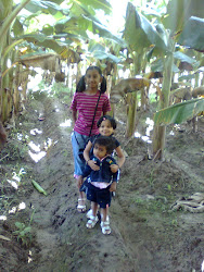 Childrens on farm
