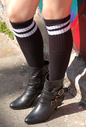 dc47e0ec19ccd Although, she tried on all kinds of socks this day such as the Neon Rainbow  Thigh Highs and new Thigh High sneaker socks, she especially loved our  simple ...