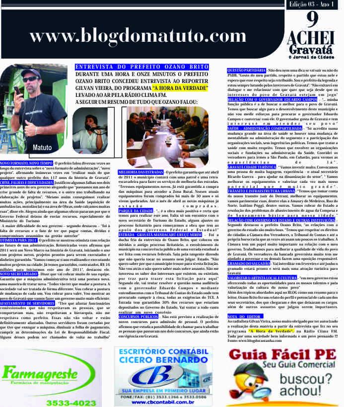 A segunda pagina do Blog do Matuto, o repórter do povo é tão amado em  Gravatá que em breve teremos 4 paginas do matutinho ea7a2b0bb8