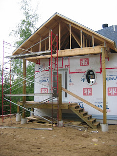 Cottage On The Edge The Diy Cottage Blog Installing Vinyl Siding 3 Reasons Scaffolding Is A