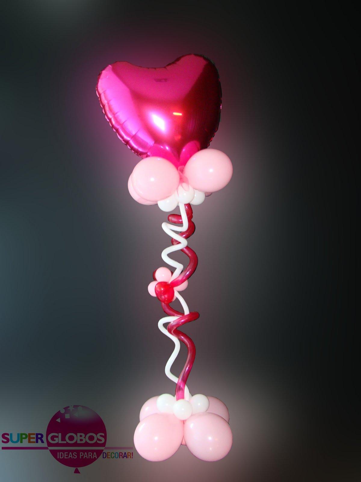 Columnas y arcos de globos decoraci n con globos para - Bombas para decorar ...
