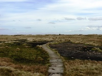 Approaching the summit of Black Hill on the Pennine Way