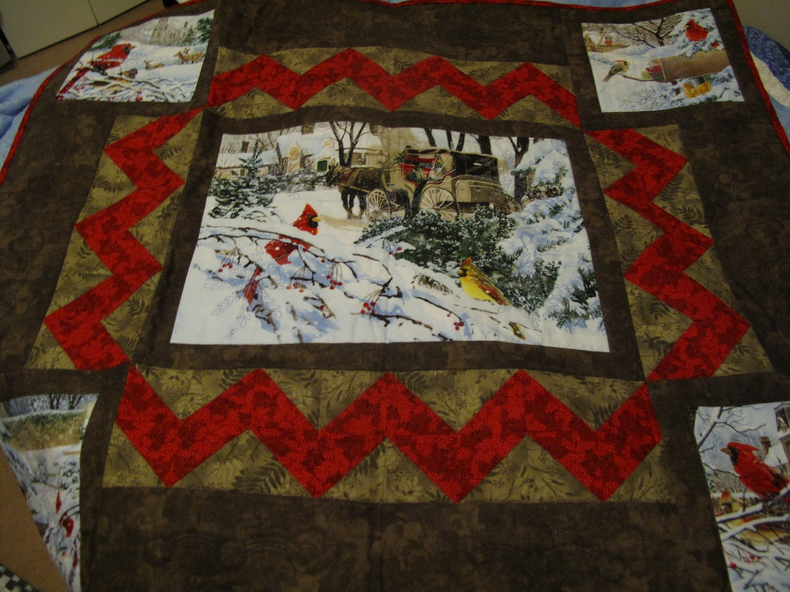Quilter's Block: Christmas Quilt from fabric panel