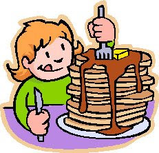 Goddess of Random Thoughts Kids Eating Breakfast At School Clipart