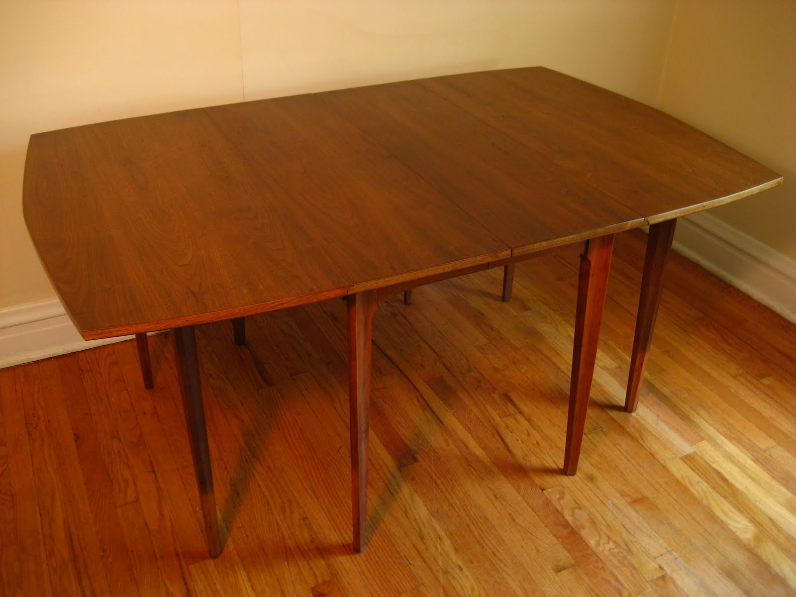 Modern Dining Table With Leaf Flatout Design Mid Century Modern Dining Table