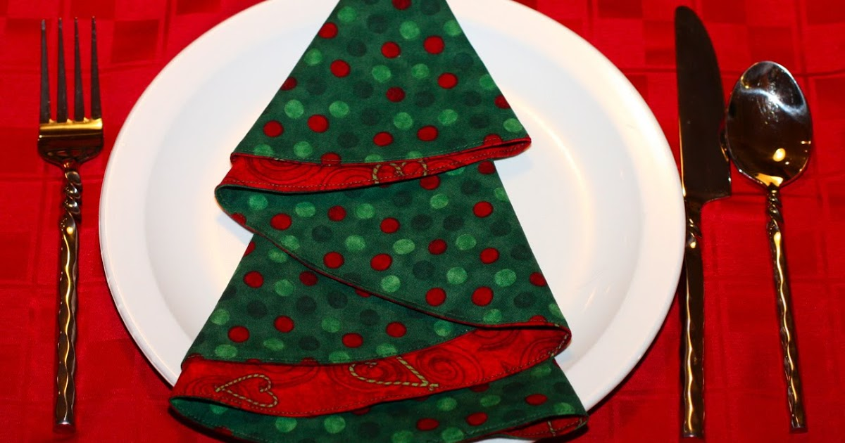 FREEBIES FOR CRAFTERS: Christmas Tree Napkins