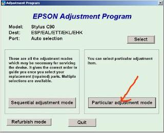 Atasi Printer Epson Stylus C90 Blinking dengan Resetter