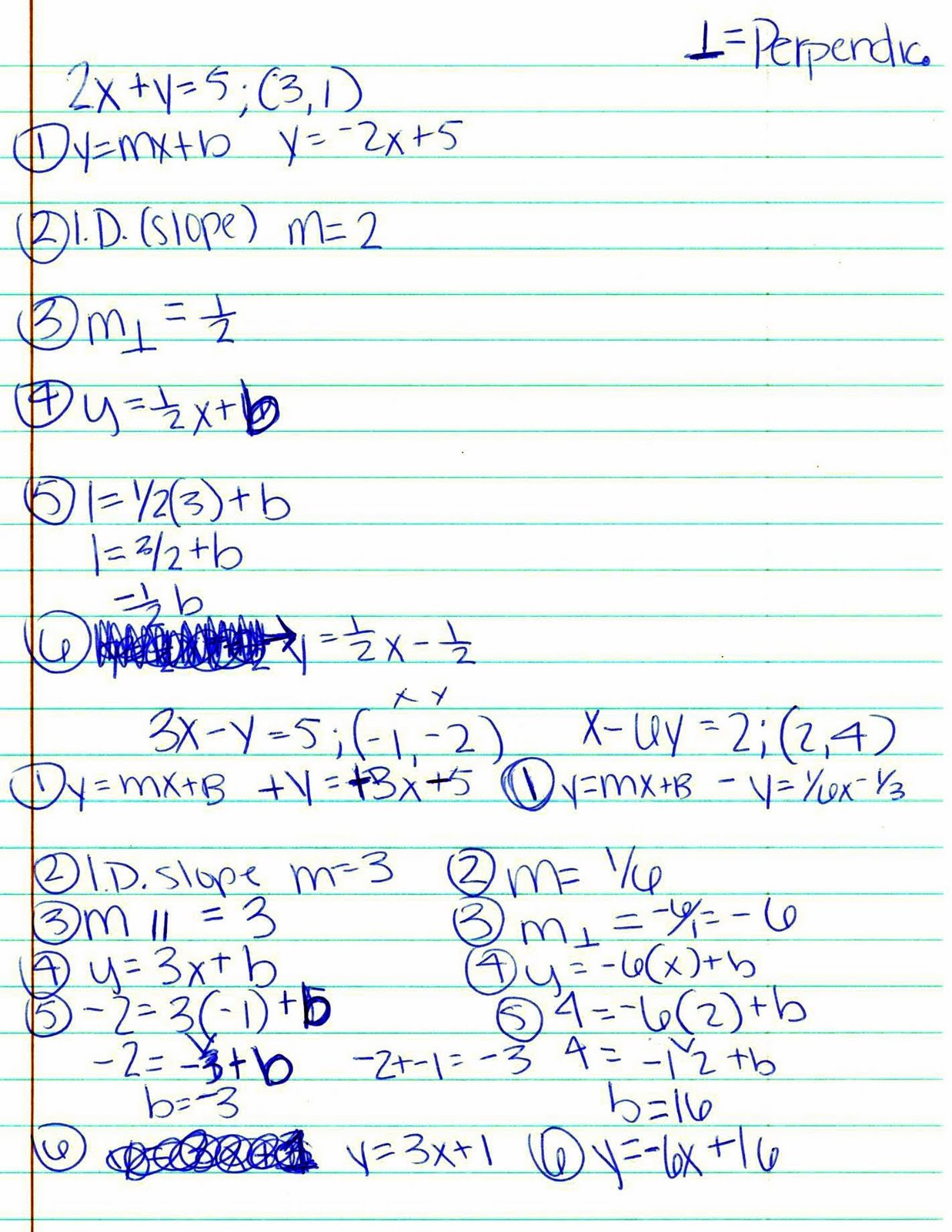 Mr Ryals Math Blog 2 2 Writing Parallel And