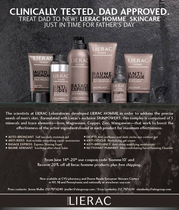 Online Discount - 20% Off the NEW Lierac Homme Men\u0026#39;s Skin ...
