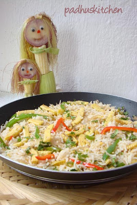 baby corn rice recipe