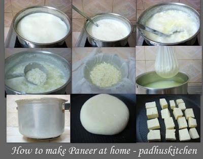 how to make paneer at home-step by step pics-How to make paneer