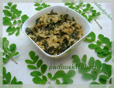Murungai keerai poriyal-drumstick leaves stir fry/curry