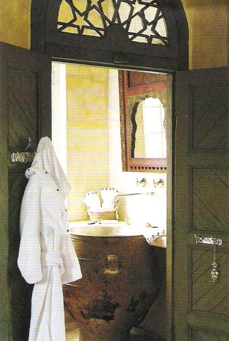 """Indian Spice"" bath design, Côté Sud, Avril-Mai 2006 edited by lb for (l&l)"