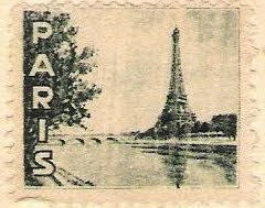 Paris Postcard Stamp, as seen on linenandlavender.net:  http://www.linenandlavender.net/2009/08/paris-is-mad.html