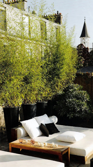 A rooftop lounge in the middle of Paris, image via Vivre Côté Paris Magazine, edited by lb for linen & lavender