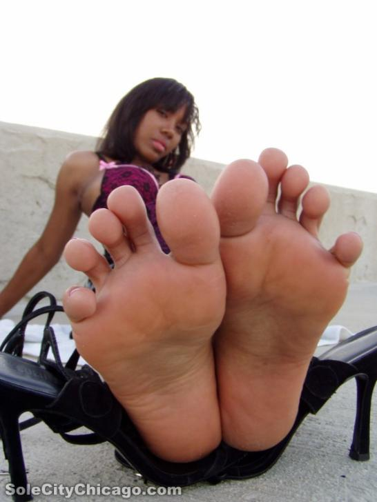 female ebony feet