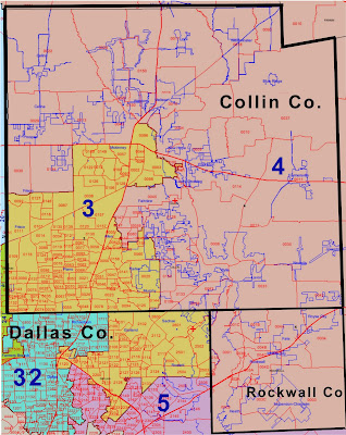 Map Of Texas Districts.Democratic Blog News Collin County Congressional Districts