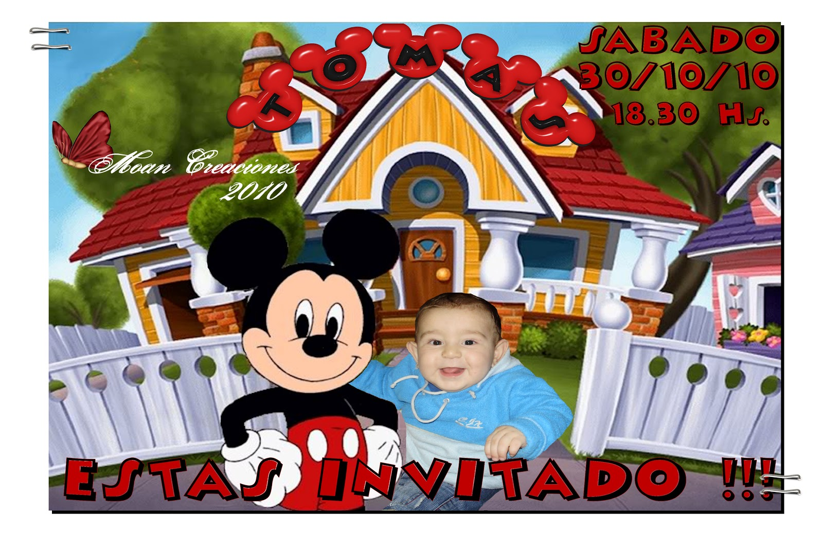 Invitaciones Para Cumpleaños Fotomontajes Gratis Imagui
