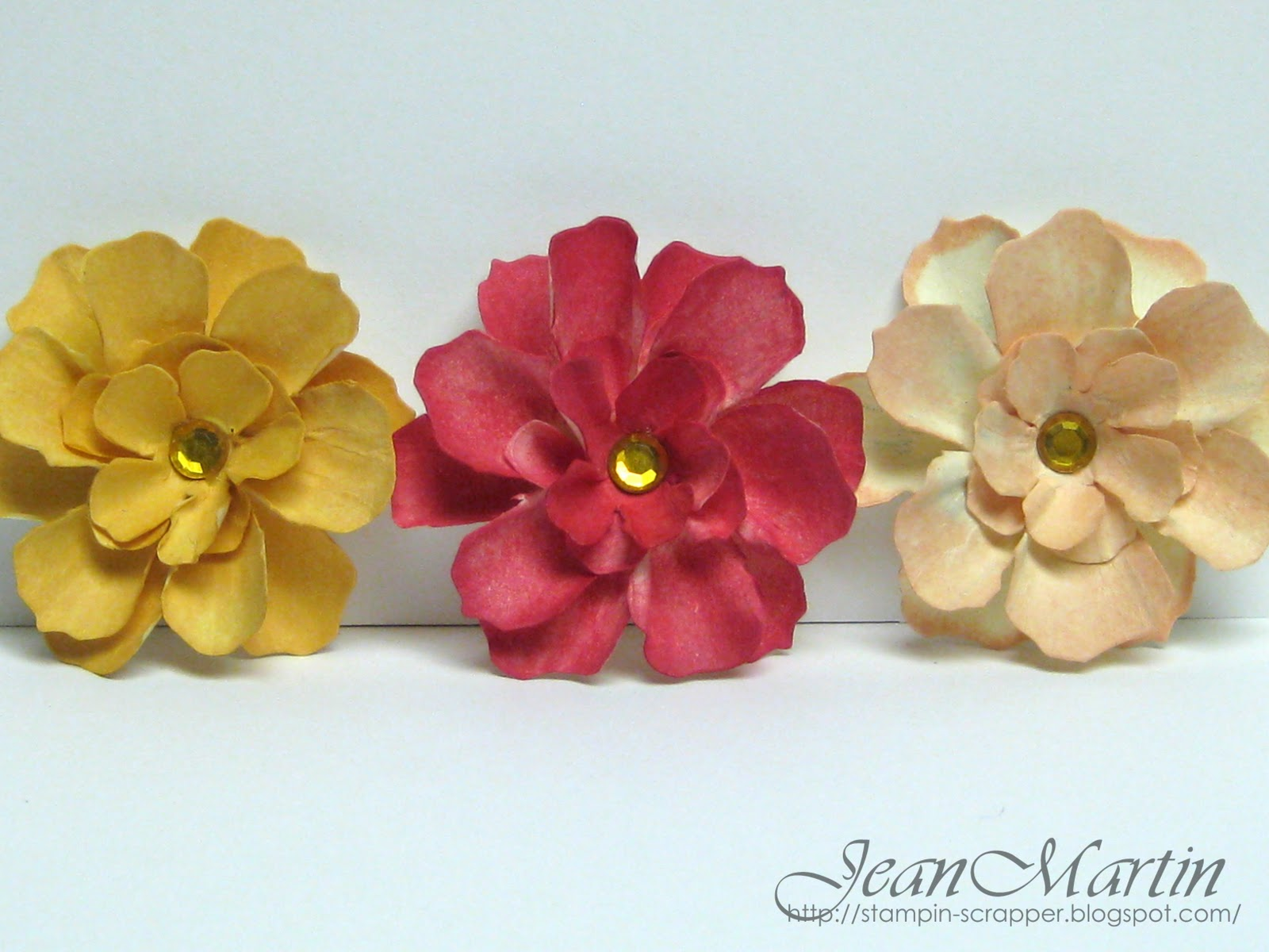 How To Make Handmade Flowers From Paper Stampin Scrapper Handmade Paper Flowers