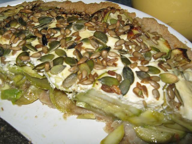 cukkini lepény ( quiche)