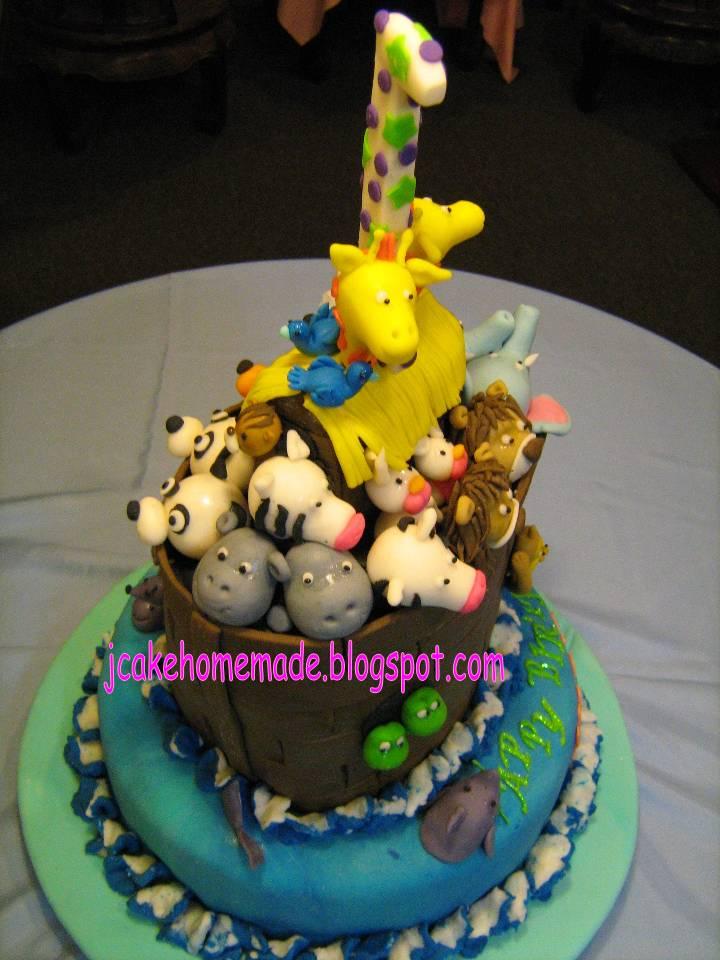 Jcakehomemade Noahs Ark Birthday Cake -9854