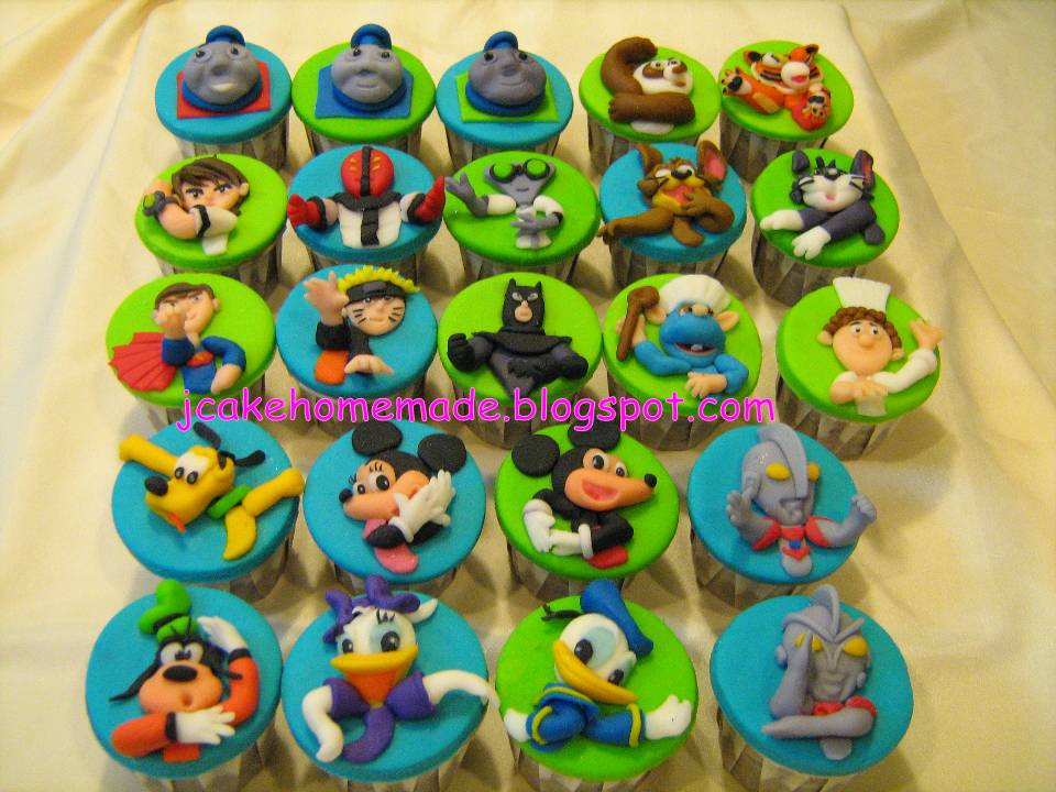 Jcakehomemade Cartoon Character Cupcakes