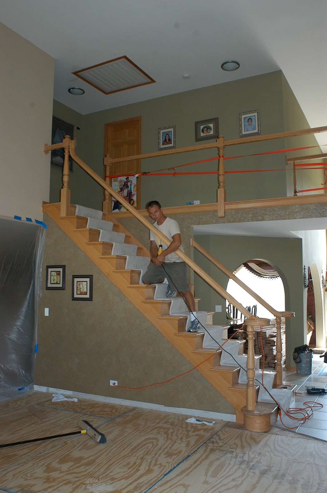 Naperville stairs and railings with Iron balusters: Need ...