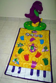 Ain S Preloved Items Ain S Preloved Fisher Price Barney Move N Groove Dance Mat Sold