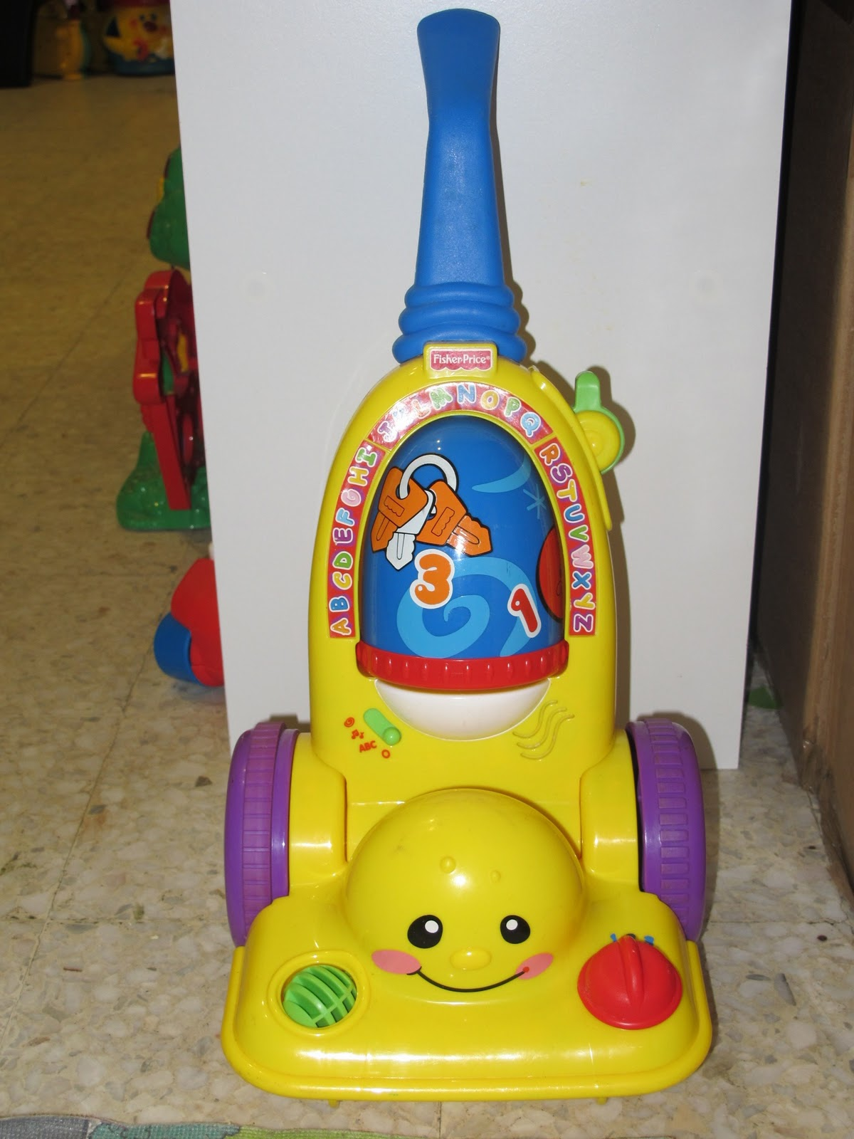 fisher price laugh and learn chair pink whiskey barrel 68 43 vaccum barney clean up